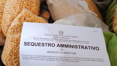 Benevento 400 chilogrammi alimenti sequestrati